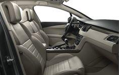 Peugeot 508 SW finns med fyra läderklädslar - tillgängliga i vissa modeller, här: Beige Claudia Ariésoch så finns det GT Nappa Cohiba, GT Svart Marstron Tramontane och Svart Marstron Tramontane.