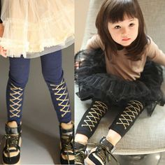 2014 autumn and winter british style girls clothing child long trousers legging kz-0630