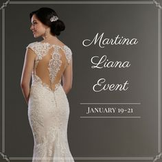 Come shop with us January 19-21 for our Martina Liana Event!  Our Martina Liana event will feature their newest collections of gowns and bridal separates, just released for 2017. These gorgeous styles will only be in our boutique for this one weekend, and they'll be 10% off! Call now to reserve your appointment: 843.856.2682