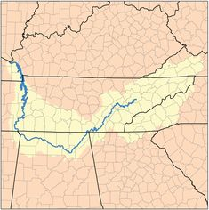 Map of the Tennessee Watershed
