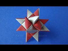 Fröbelstern basteln - Anleitung: Dieser Stern zählt nicht zu den einfachsten Weihnachtssterne, der fertige Papierstern ist aber so schön dass sich die Mühe l...