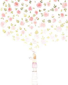 """"""". 따뜻함으로 가득찬 세상을 그리며 . 봄을 그리다. illust by.rana .  #watercolor#illust#illustration#artwork#art#drawing#spring#flowers#일러스트#수채화#손그림#봄#꽃…"""""""