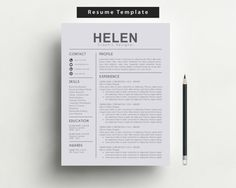 Resume Template  Cv Template  Cover Letter  Instant Digital