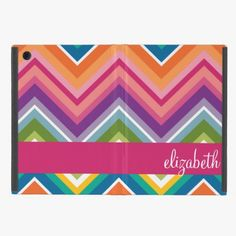 It's cute! This Huge Colorful Chevron Pattern with Name iPad Mini Covers is completely customizable and ready to be personalized or purchased as is. Click and check it out!