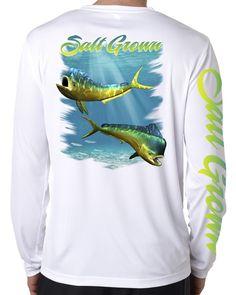 SAND.SALT.SURF.SUN Long Sleeve T-Shirt Destin Polynesian Hammerhead Tribal Mens UPF 50