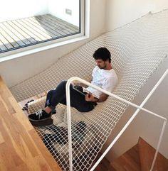 hangmat boven de trap {11 übercoole interieurideeën!}