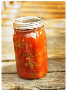 Chili sauce recipe for canning. Good use for tomatoes!