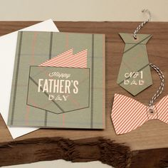 DIY - Dad's Pocket Square Card and Gift Tags - Free PDF Printable