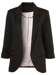 Slim Blazer In Black #clothings #fashionapparel #trend #gift #stylish #sale #style #fashion #Cardigan #apparel #clothing #clothingline #christmas #palysuit #shoes #boot #plimsolls #shippingonline #newarrivals#fashion2016