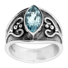 Silpada 'Like What You Sea' Natural Blue Topaz Ring in Sterling Silver | Like What You Sea Ring | Silpada
