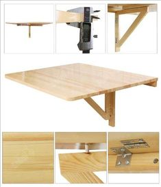 Wall Mounted Table Design Ideas Astonishing Fold Away 81 About Remodel Interior Decor Home With in attachment with category Design Folding Furniture, Space Saving Furniture, Diy Furniture, Fold Down Table, Fold Out Desk, Wall Mounted Table, Drop Leaf Table, Solid Wood Table, Diy Wall