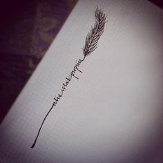 alis volat propriis feather tattoo design. love the font  | followpics.co