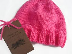 Your place to buy and sell all things handmade Knitted Beanies, Pink Beanies, Knit Beanie, Baby Winter Hats, Baby Hats, Newborn Beanie, Alpaca Wool, Newborns, 3 Months