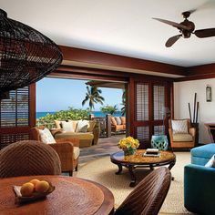 Brides: Hawaii's Hottest Hotels for Honeymooners | Honeymoons | Brides.com  - 4. Four Seasons Hualalai    At this Big Island honeymoon favorite, book a ground-floor room for the outdoor lava-rock shower, then alternate between the six pools. At the apothecary-style spa, you can customize scubs from macadamia nuts, coconut, and sea salt.
