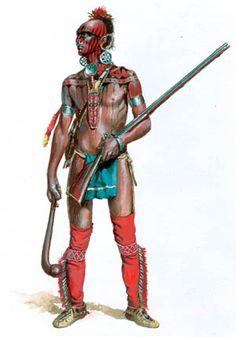Shawnee Indian warrior in 1700s