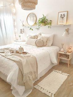 Room Design Bedroom, Room Ideas Bedroom, Home Decor Bedroom, Girls Bedroom, Bedroom Inspo, White Bedroom Decor, Dorm Room Designs, Bohemian Bedroom Decor, Pink Bedrooms