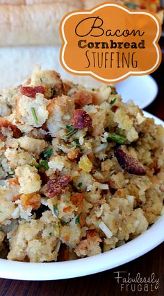 This is the best stuffing ever!!!  Bacon Cornbread Stuffing Recipe