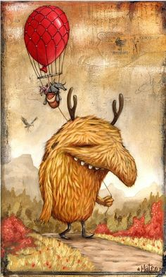 Mateo Dineen This is soooo cute. Art And Illustration, Monster Illustration, Weird Creatures, Magical Creatures, Fantasy Creatures, Cute Monsters, Little Monsters, Fantasy Kunst, Fantasy Art