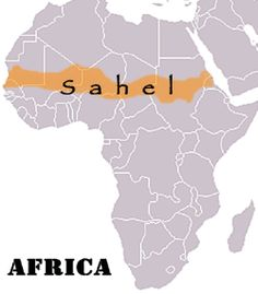 This is the Sahel. Though it used to have a lot of grass, and trees, it is going through desertification, causing it to become a desert.
