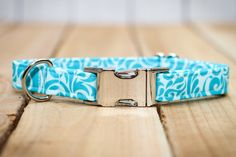 Turquoise Dog Collar Turquoise & Light Blue Summer by ZaleyDesigns, $25.00