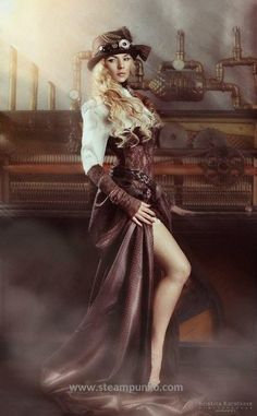 Awesome Women's Steampunk Costume #steampunk #costume #woman #steampunko