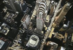 Looking down on the Chrysler Building
