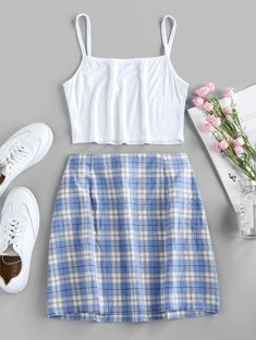 Girls Fashion Clothes, Teen Fashion Outfits, Girly Outfits, Cute Casual Outfits, Stylish Outfits, Style Fashion, Diy Summer Clothes, Cute Summer Dresses, Cute Outfits For Kids