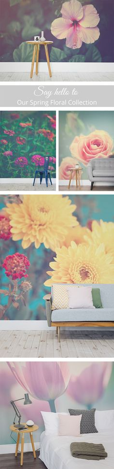 Spring is finally here! Brighten up your day with these gorgeous floral wallpaper designs.