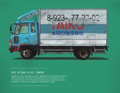Небольшая серия иллюстраций о праворульных авто в РФ.