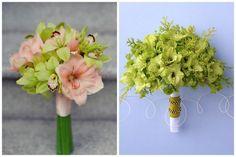 green peach martha stewart gladiolus wedding bouquet bridal bride diy