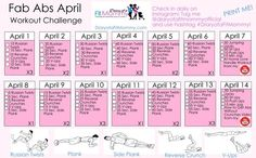 Fab Abs April Workout Challenge | Diary of a Fit Mommy | Bloglovin'