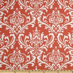 Premier Prints Ozborne Coral/White from @fabricdotcom  Screen printed on cotton duck; this versatile medium weight fabric is perfect for window accents (draperies, valances, curtains and swags), accent pillows, duvet covers and upholstery. Create handbags, tote bags, aprons and more. *Use cold water and mild detergent (Woolite). Drying is NOT recommended - Air Dry Only - Do not Dry Clean. Colors include white and coral.