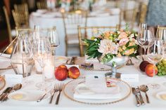 Fruit and Floral Reception Table Decor | photography by http://megruth.com/