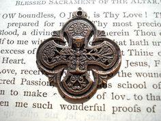 First Communion Bronze  Chalice  Eucharist  by CaritasDeiSupplies, $9.00