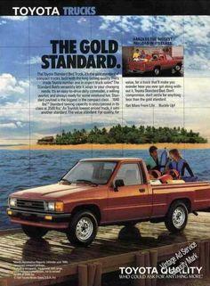 Old Toyota Truck Ads - Chin on the Tank – Motorcycle stuff in Philadelphia. Toyota 4x4, Toyota Trucks, Toyota Hilux, Toyota Tacoma, Toyota Corolla, Mini Trucks, 4x4 Trucks, Trucks For Sale, Ford Trucks