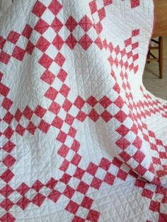 Red and White Quilt... could add red-work embroidery in the white spaces.