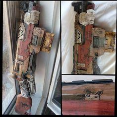 Las armas con dibujitos siempre funcionan mejor Nerf Slingfire modificada #nerf #zombiestrike #mod #guns #weapon #postapocalyptic #paint #draw #rusty #zombie #wasteland #postapo #nerfgun #kidswithguns #wastelandweekend #costuming #costume #cosplay...