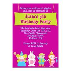 Dress Up Costume Party Birthday Invitation