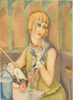 Desde el otro lado del cuadro: Portrait of Lili Elbe - Gerda Wegener