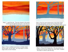 Teaching Depth & Shading art education The VALUE in a Painting 5th Grade Art, School Art Projects, Art Lessons Elementary, Middle School Art, Autumn Art, Elements Of Art, Art Lesson Plans, Halloween Art, Art Classroom