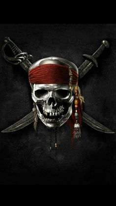 Pirate Skull And Crossbones Tattoo, Pirate Skull Tattoos, Pirate Art, Pirate Life, Pirate Flag Tattoo, Jack Sparrow Wallpaper, Jack Sparrow Tattoos, Johny Depp, Skull Artwork