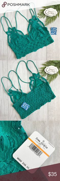 d03978604c Free People ♥️Adella Bralette NWT Green Small