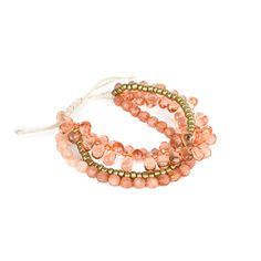 3 Row Beaded Bracelet