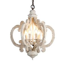 Lovedima Rustic Vintage Iron Wooden Chandelier Candle Hanging Ceiling Light in Distressed White – Industrial Lighting Fixtures & Decor Wood And Metal Chandelier, Farmhouse Pendant Lighting, Wood Pendant Light, Vintage Chandelier, Vintage Lighting, Country Chandelier, Hanging Candles, Chandelier Ceiling Lights, Ceiling Light Fixtures