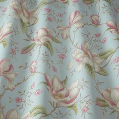 Lilium Eau De Nil by iLiv at Eden Fabrics Curtain Fabric, Curtains, Scatter Cushions, Fabric Samples, Craft Patterns, Machine Embroidery Designs, Print Design, Upholstery, Textiles