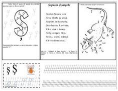 Litera Ș mare de mână Preschool Writing, Bullet Journal, Classroom, Words, Van Gogh, Google, Full Bed Loft, Learning To Write, Reading