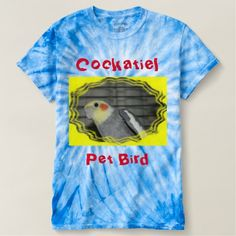 Cockatiel Pet Bird  Tie Dyed T-Shirt