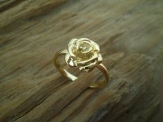 Silver rose ring by GerasimoS on Etsy, €16.00