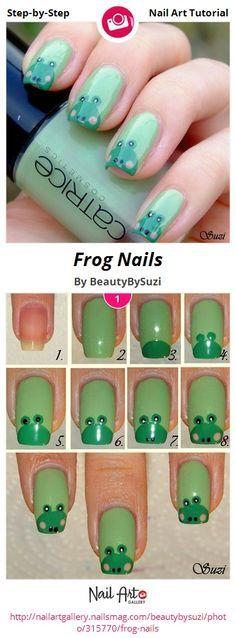 Frog Nails by BeautyBySuzi - Nail Art Gallery Step-by-Step Tutorials nailartgallery.nailsmag.com by Nails Magazine www.nailsmag.com #nailart