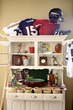 Super Bowl decor.